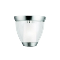 "Circolo Collection 1-Light 10"" Brushed Nickel Ceiling Mount with Satin Etched Glass 3695NI"