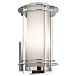 "Pacific Edge Collection 1-Light 16"" Marine Grade Stainless Steel Outdoor Wall Sconce 49346PSS316"