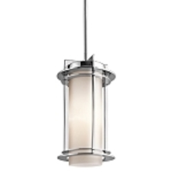 "Pacific Edge Collection 1-Light 11"" Marine Grade Stainless Steel Outdoor Hanging Pendant 49347PSS316"