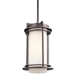 "Pacific Edge Collection 1-Light 13"" Architectural Bronze Outdoor Hanging Pendant 49348AZ"