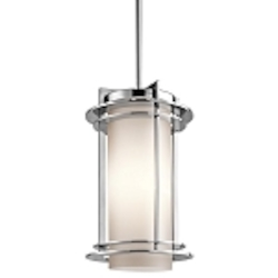 "Pacific Edge Collection 1-Light 13"" Marine Grade Stainless Steel Outdoor Hanging Pendant 49348PSS316"