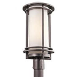 "Pacific Edge Collection 1-Light 18"" Architectural Bronze Outdoor Post Mount 49349AZ"