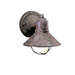 "Seaside Collection 1-Light 7"" Olde Brick Outdoor Wall Sconce 9021OB"