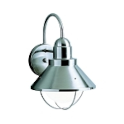 "Seaside Collection 1-Light 12"" Satin Nickel Outdoor Wall Sconce 9022NI"