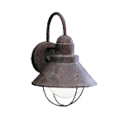 "Seaside Collection 1-Light 12"" Olde Brick Outdoor Wall Sconce 9022OB"