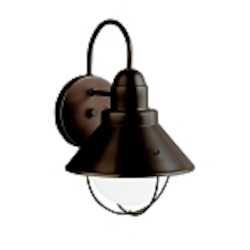 "Seaside Collection 1-Light 12"" Olde Bronze Outdoor Wall Sconce 9022OZ"