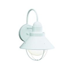 "Seaside Collection 1-Light 12"" White Outdoor Wall Sconce 9022WH"