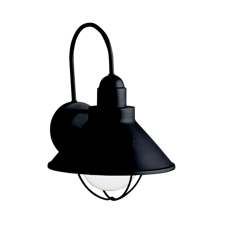 Outdoor Wall Sconces Black : Seaside Collection 1-Light 14