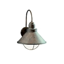 "Seaside Collection 1-Light 14"" Olde Brick Outdoor Wall Sconce 9023OB"