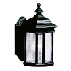 "Kirkwood Collection 1-Light 12"" Black Outdoor Wall Lantern 9028BK"