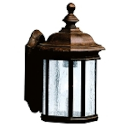 "Kirkwood Collection 1-Light 12"" Tannery Bronze Outdoor Wall Lantern 9028TZ"
