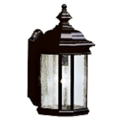"Kirkwood Collection 1-Light 17"" Black Outdoor Wall Lantern 9029BK"