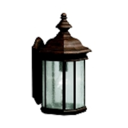 "Kirkwood Collection 1-Light 17"" Tannery Bronze Outdoor Wall Lantern 9029TZ"