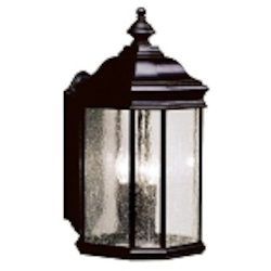 "Kirkwood Collection 3-Light 21"" Black Outdoor Wall Lantern 9030BK"