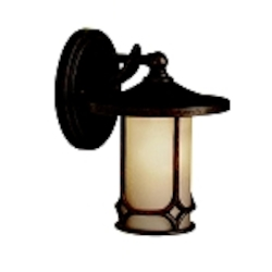 "Chicago Collection 1-Light 9"" Aged Bronze Outdoor Wall Sconce 9364AGZ"