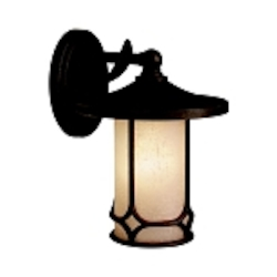 "Chicago Collection 1-Light 10"" Aged Bronze Outdoor Wall Sconce 9365AGZ"