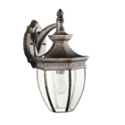 "Warrington Collection 1-Light 16"" Tannery Bronze Outdoor Wall Lantern 9369TZ"