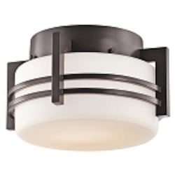 "Pacific Edge Collection 1-Light 10"" Architectural Bronze Outdoor Ceiling Flush Mount 9557AZ"