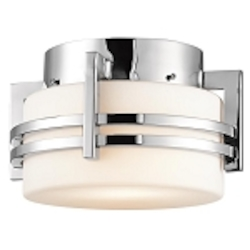 "Pacific Edge Collection 1-Light 10"" Marine Grade Stainless Steel Outdoor Ceiling Flush Mount 9557PSS316"