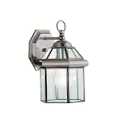 "Embassy Row Collection 1-Light 10"" Antique Pewter Outdoor Wall Lantern with Clear Glass 9783AP"