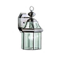 "Embassy Row Collection 1-Light 14"" Antique Pewter Outdoor Wall Lantern with Clear Glass 9784AP"