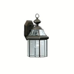 "Embassy Row Collection 1-Light 14"" Olde Bronze Outdoor Wall Lantern with Clear Glass 9784OZ"