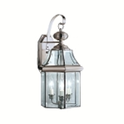 "Embassy Row Collection 3-Light 21"" Antique Pewter Outdoor Wall Lantern with Clear Glass 9785AP"