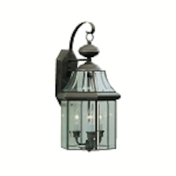 "Embassy Row Collection 3-Light 21"" Olde Bronze Outdoor Wall Lantern with Clear Glass 9785OZ"
