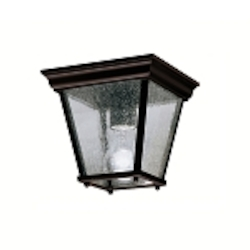 "Kirkwood Collection 1-Light 7"" Black Outdoor Ceiling Flush Mount 9859BK"