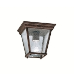 "Kirkwood Collection 1-Light 7"" Tannery Bronze Outdoor Ceiling Flush Mount 9859TZ"