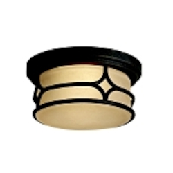 "Chicago Collection 2-Light 12"" Aged Bronze Outdoor Ceiling Flush Mount 9867AGZ"