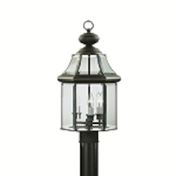 "Embassy Row Collection 3-Light 20"" Olde Bronze Outdoor Post Lantern with Clear Glass 9985OZ"