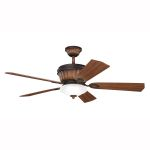 "Dorset Collection 52"" Mediterranean Walnut Ceiling Fan 300152MDW"