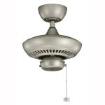 "Canfield Collection 52"" Antique Satin Silver Ceiling Fan 320500ANS"
