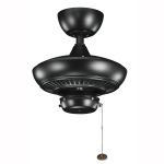 "Canfield Collection 52"" Satin Black Ceiling Fan 320500SBK"