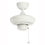 "Canfield Collection 52"" Satin Natural White Ceiling Fan 320500SNW"