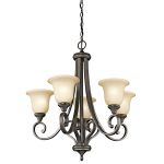 "Monroe Collection 27"" 5-Light Olde Bronze Chandelier 43156OZ"