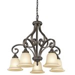 "Monroe Collection 27"" 5-Light Olde Bronze Chandelier 43158OZ"