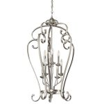 "Monroe Collection 23"" 8-Light Brushed Nickel Chandelier 43166NI"