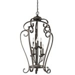 "Monroe Collection 23"" 8-Light Olde Bronze Chandelier 43166OZ"