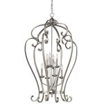 "Monroe Collection 27"" 8-Light Brushed Nickel Chandelier 43167NI"