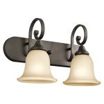 "Monroe Collection 18"" 2-Light Olde Bronze Vanity 45054OZ"
