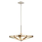 "Bryce Collection 20"" 4-Light Brushed Nickel Pendant 65363"