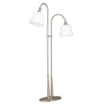 "Blaine Collection 28"" 2-Light Brushed Nickel Floor Lamp 74112NIWCA"