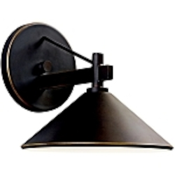 "Ripley Collection 1-Light 8"" Olde Bronze Dark Sky Outdoor Wall Sconce 49059OZ"