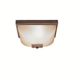 "Benton Collection 2-Light 13"" Olde Bronze Outdoor Ceiling Flush Mount 9817OZ"