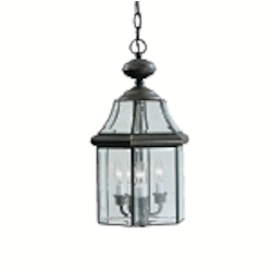 "Embassy Row Collection 3-Light 19"" Olde Bronze Outdoor Hanging Lantern 9885OZ"