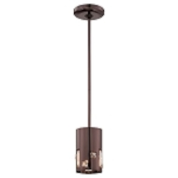 Chocolate Chrome 1 Light Mini Pendant in Chocolate Chrome from the Bling Bang Collection