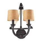 "Natural Rope Collection 2-Light 12"" Aged Bronze Wall Sconce 63010-2"