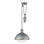 "Farmhouse Collection 1-Light 39"" Aged Pewter Pendant 65081-1"